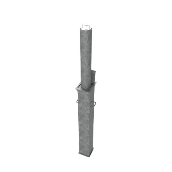 RRB R14 Telescopic Bollard Grey