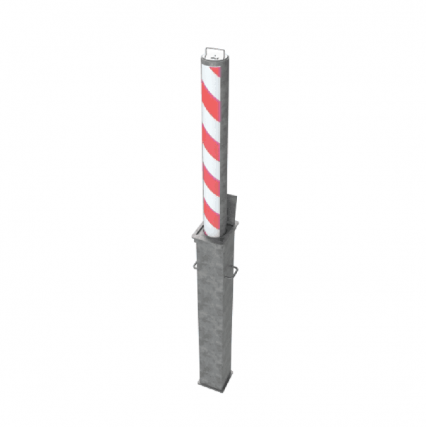RRB R14 Telescopic Bollard Striped
