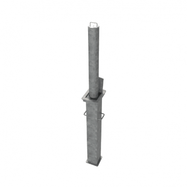 RRB R8 Telescopic Bollard Grey