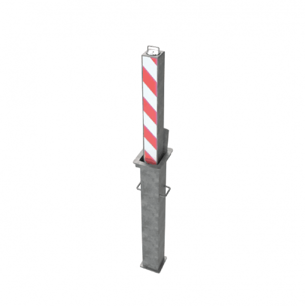 RRB SQ5 Telescopic Bollard Striped