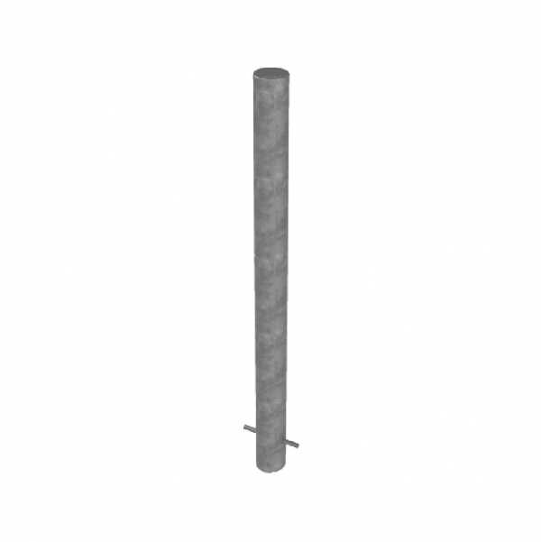 RSSB_101 Steel Static Bollard Grey
