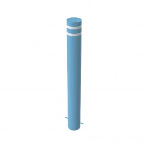 RSSB_168 Steel Static Bollard Blue with Stripes
