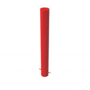 RSSB_168 Steel Static Bollard Red