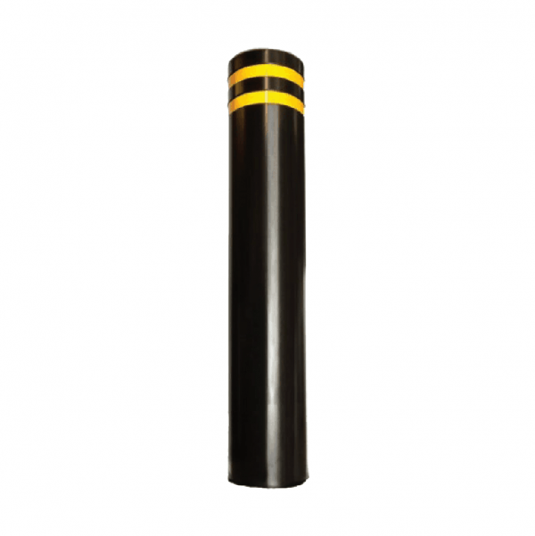 RSSB_193 Steel Static Bollard black and yellow