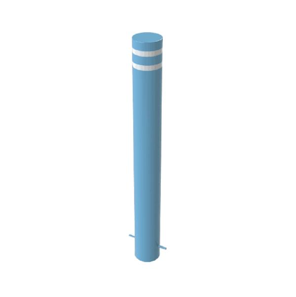RSSB_219 Steel Anti Ram Bollard Blue With Stripes