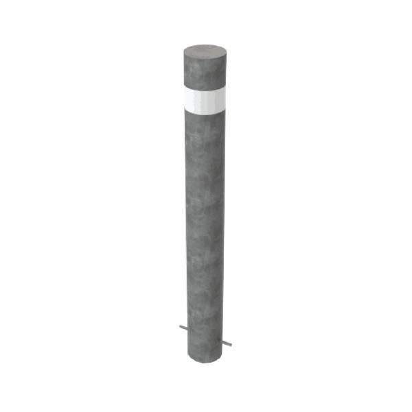 RSSB_219 Steel Anti Ram Bollard Grey with Stripe