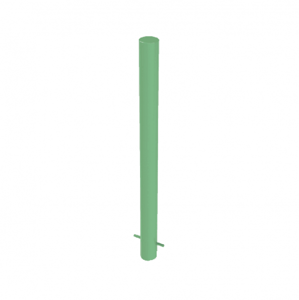 RSSB_90 Steel Static Bollard Green