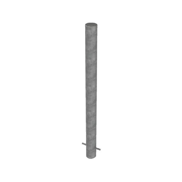 RSSB_90 Steel Static Bollard Grey
