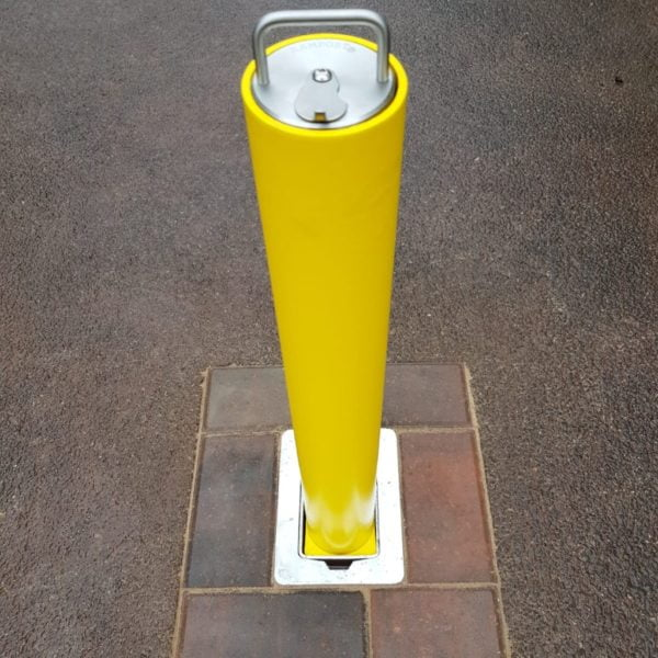 "Removable Bollards - Integrated ""Sold Secure"" Lock"